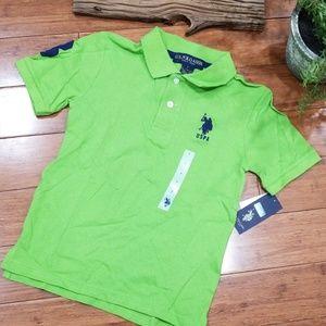 🌷NWT U.S.Polo Assn Boys sz 7 Polo Shirt (572)